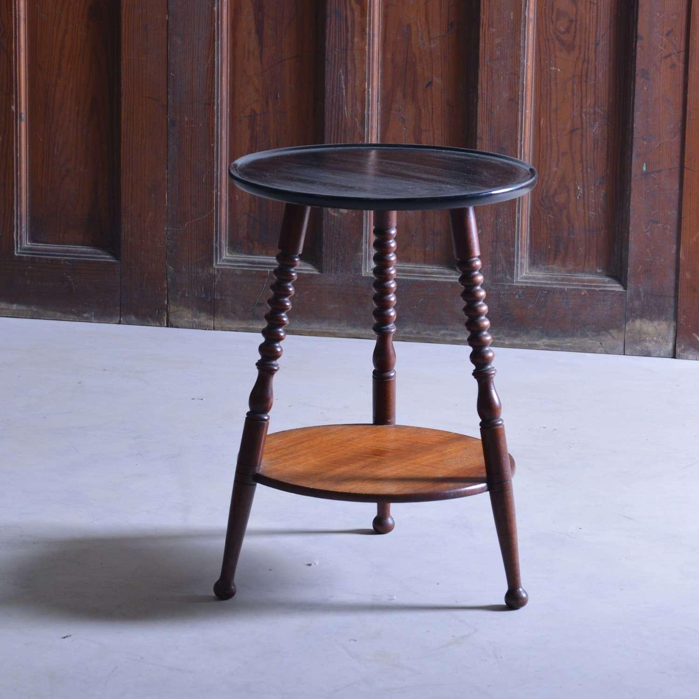 Mahogany bobbin tripod table