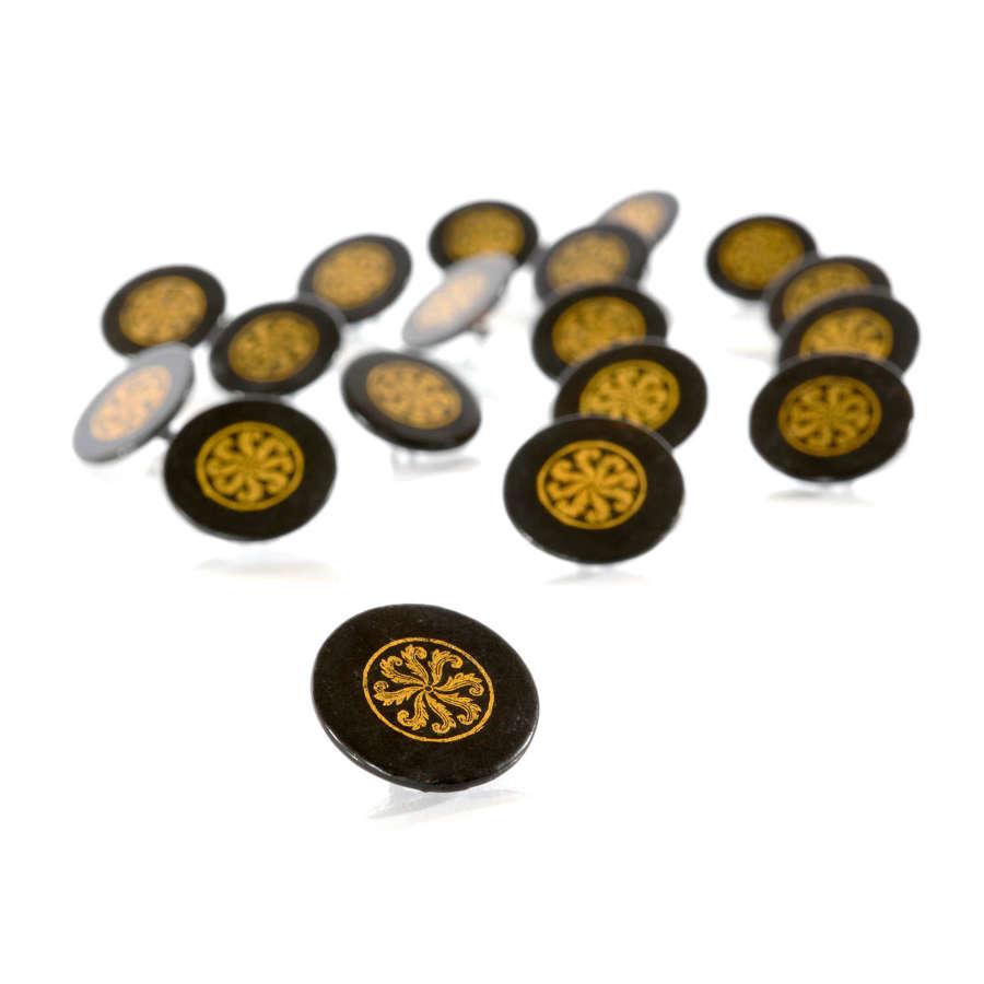 19th Century papier maché buttons