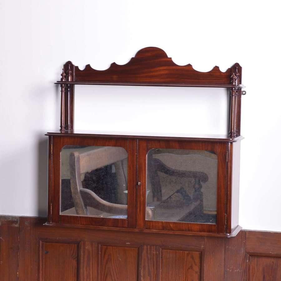 Mahogany hanging two door cabinet