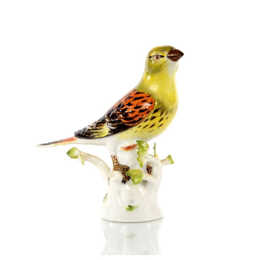 A Meissen figure of a Yellowhammer, 20th Century.