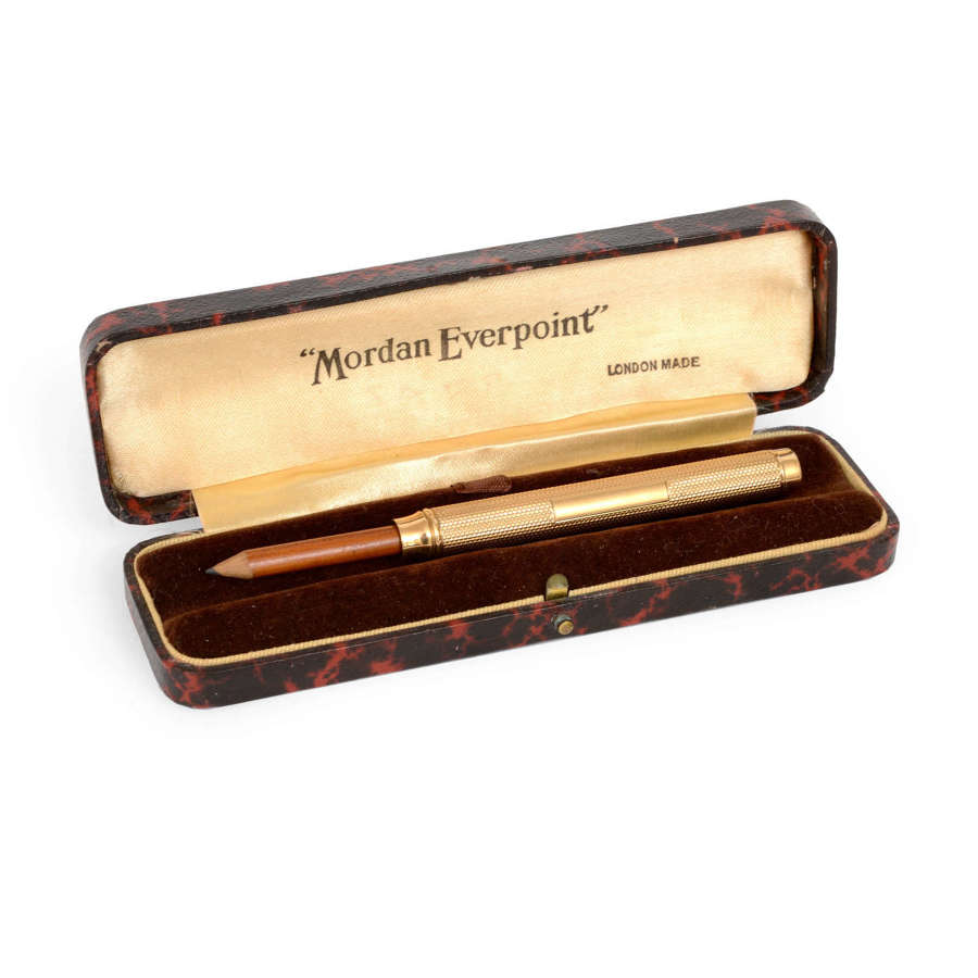 A 9ct gold Sampson Mordan Everpoint pencil.