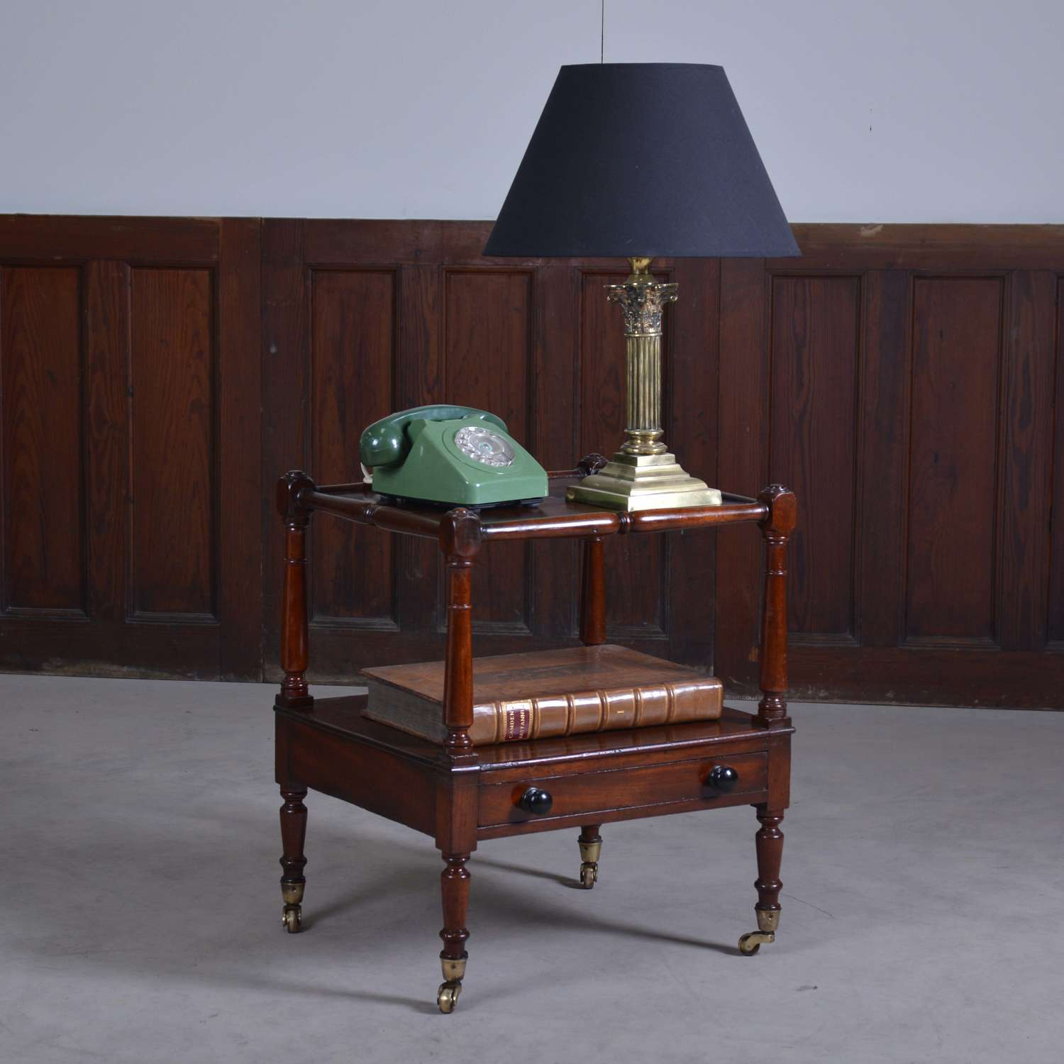 Mahogany whatnot, or bedside table