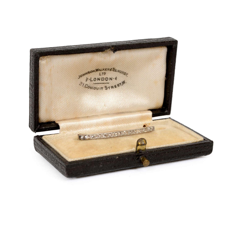 A child's diamond stock pin/brooch.