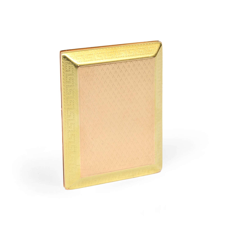 A 9ct gold vesta case by Asprey of London.