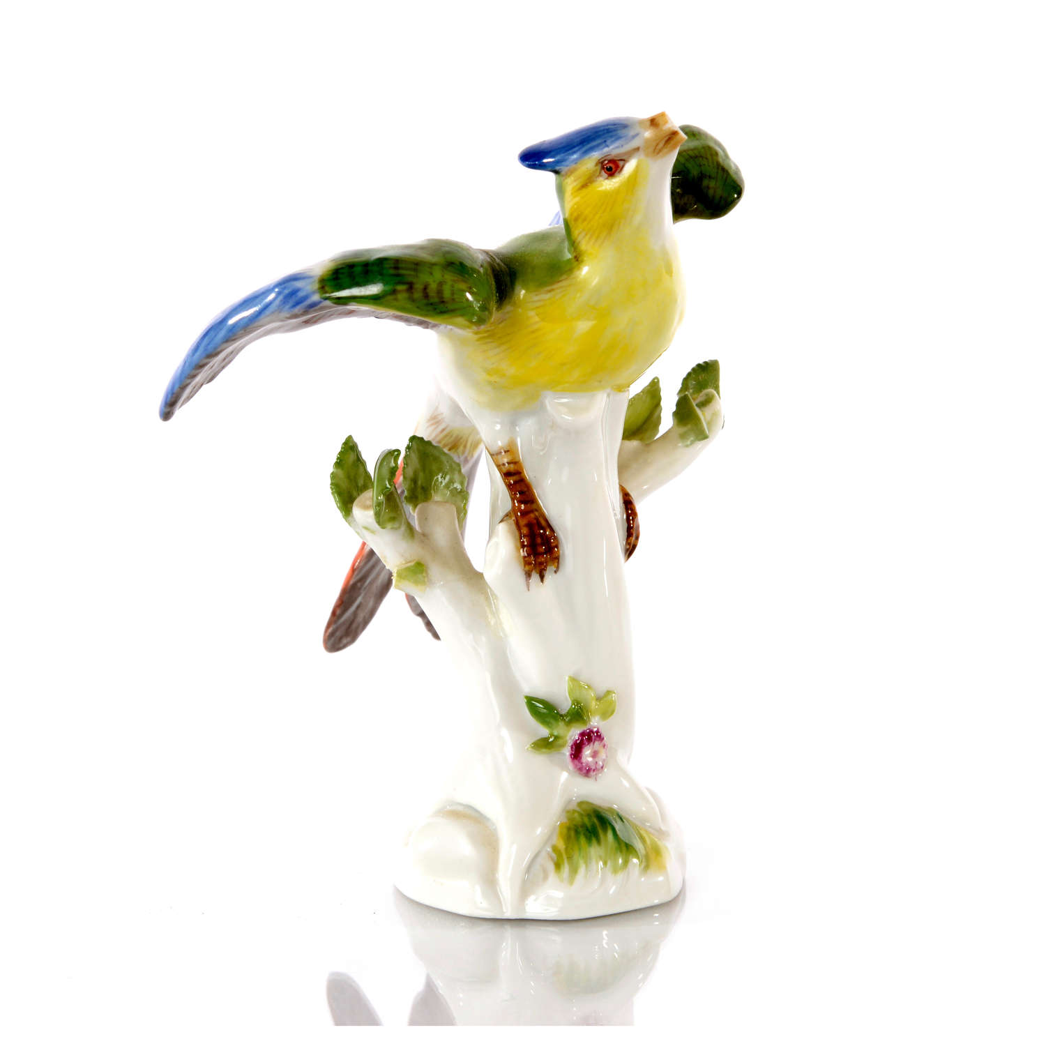 A Meissen figure of a Bird of Paradise, mid 20th Century.