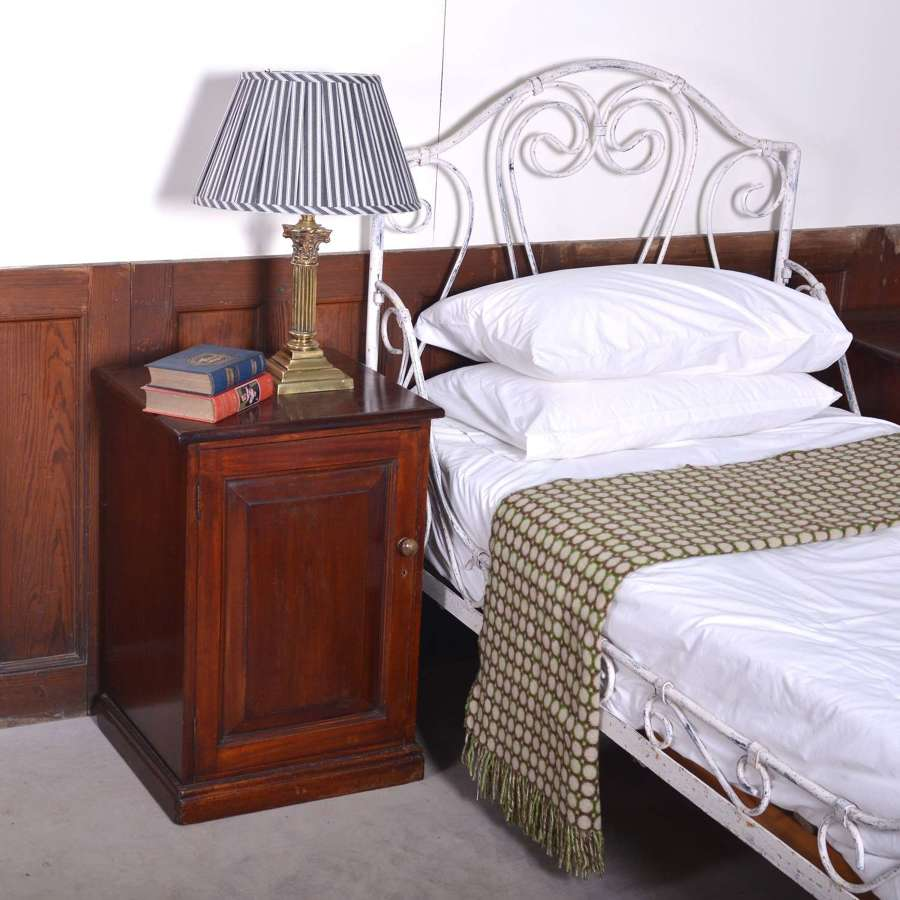 Pair of mahogany bedside cupboards