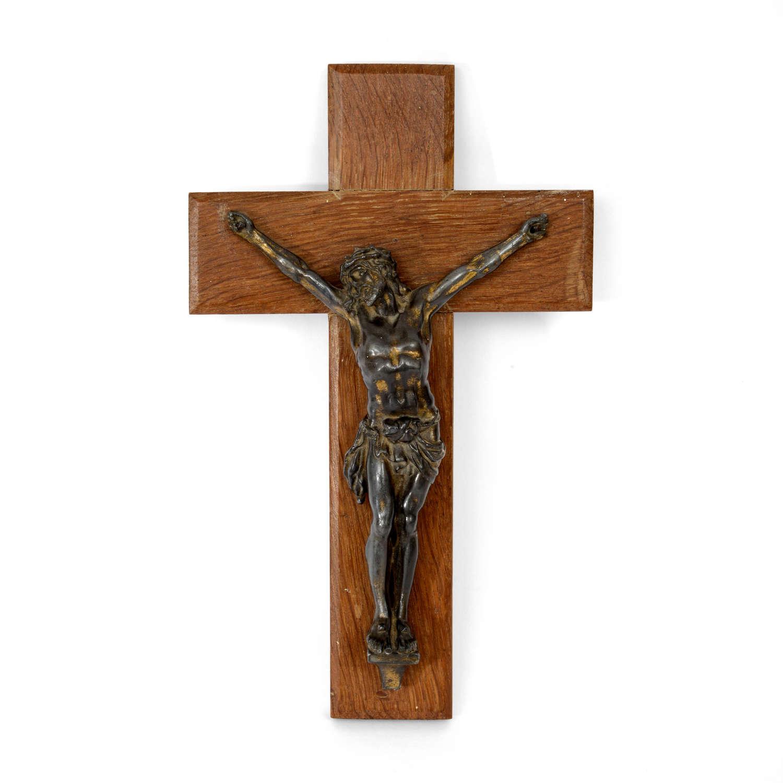 A Northern European bronze crucifix