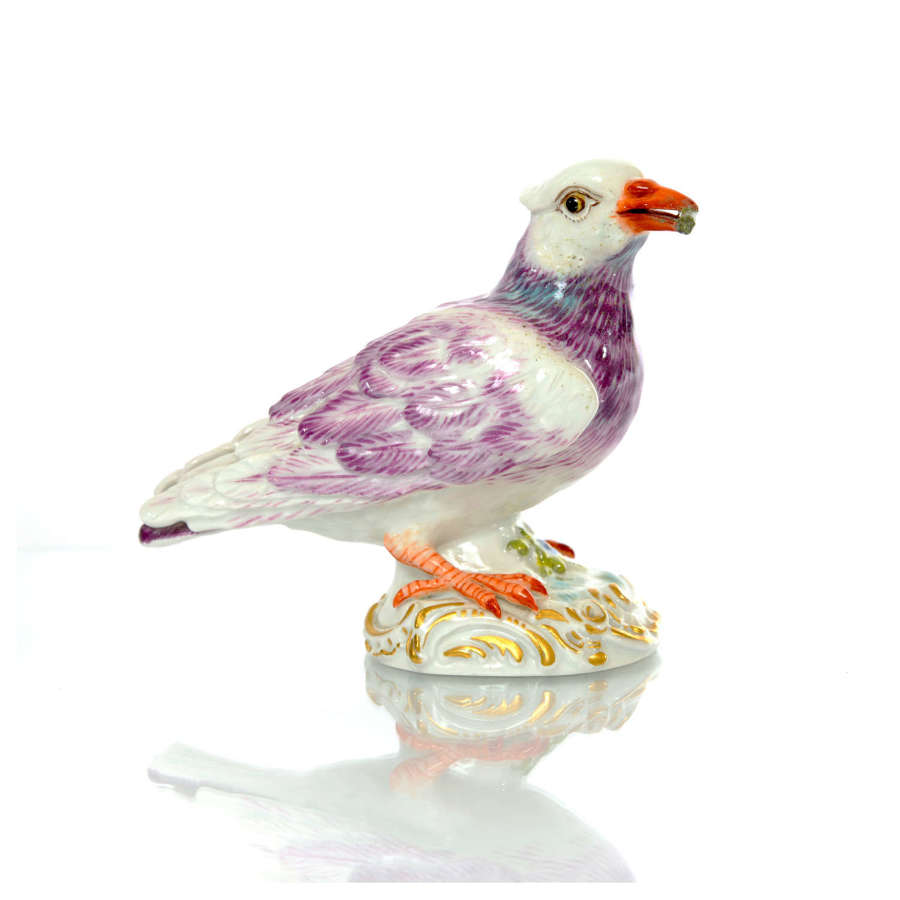 A Meissen figure of a Taube (pigeon), mid 20th Century.